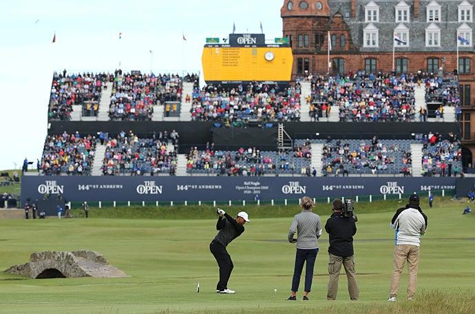 british open 2015  champion golfers u0026 39  challenge at st  andrews