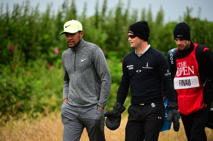 Tony Finau and Zach Johnson were paired together in the third round.
