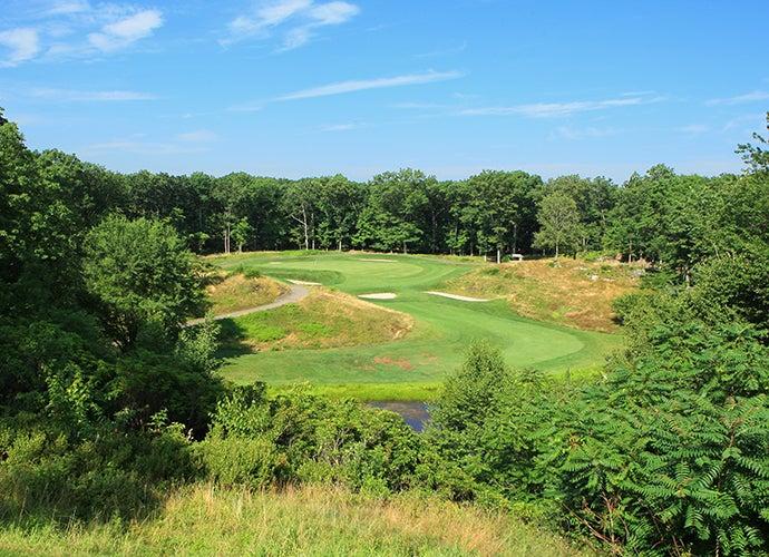9. Yale Golf Course, New Haven, Conn.; 13th hole, 212 yards, par 3