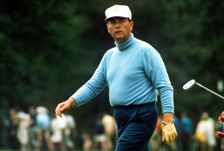 Billy Casper during the final round of the 1970 Masters.