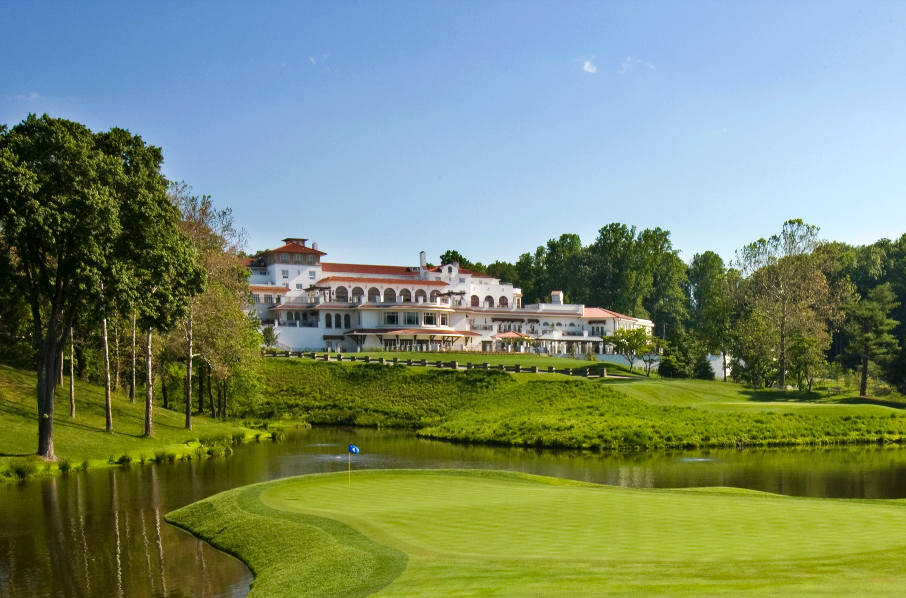 Congressional Country Club is located in the heart of Bethesda, Md. It is home to many of some of Washington DC's elite —and has the regal clubhouse to match.