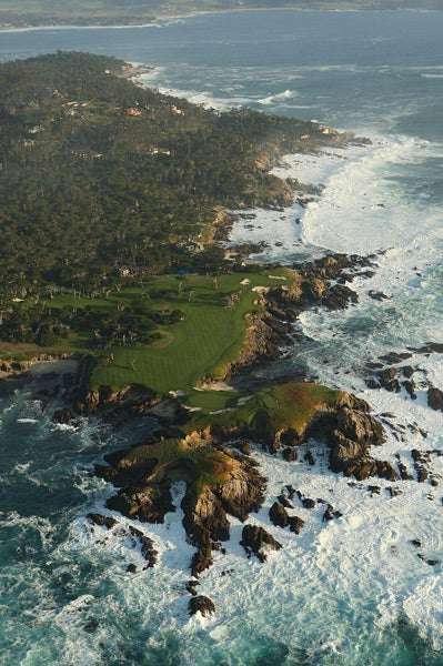 1. 16th Hole, Cypress Point Club, Pebble Beach, Calif. par 3, 233 yards