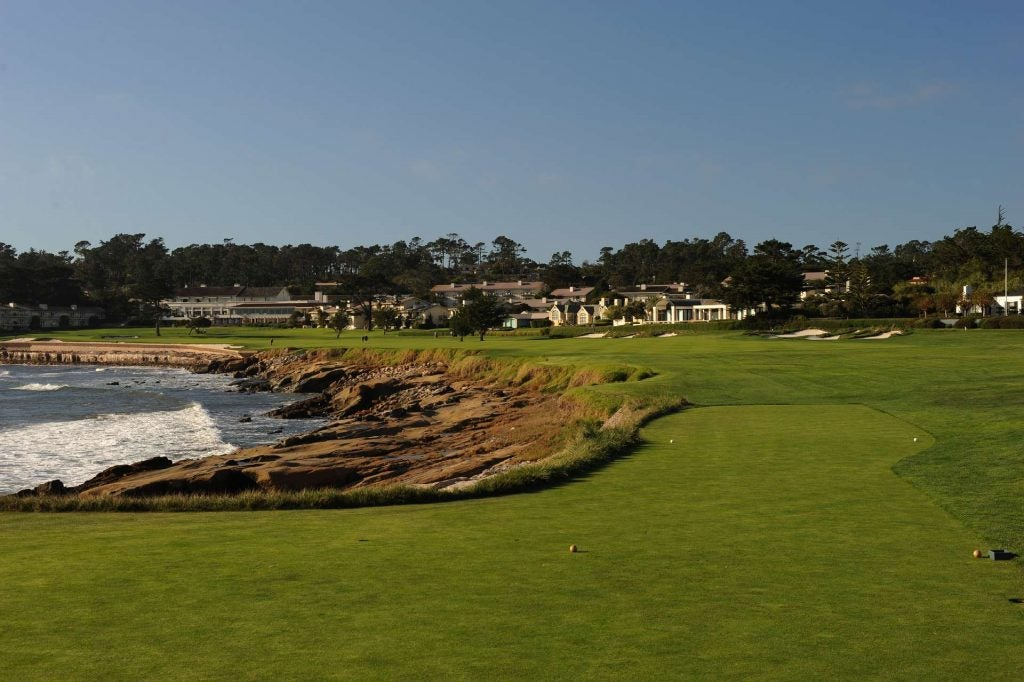 3. 18th Hole, Pebble Beach Golf Links, Pebble Beach, Calif.; par 5, 543 yards