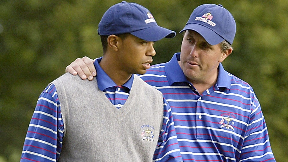Image result for phil mickelson and tiger woods