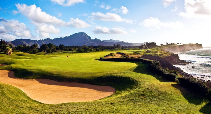 17. 16th hole, Poipu Bay Golf Course, Kauai, Hawaii; par 4, 501 yards
