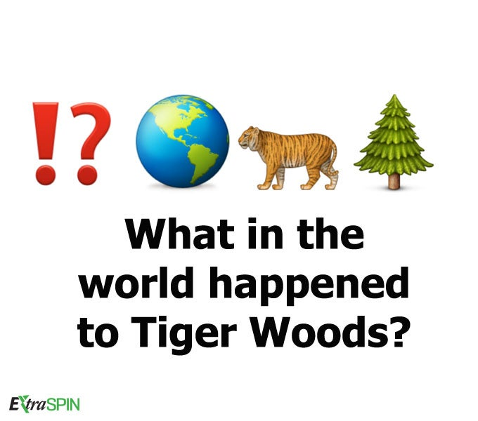 What in the world happened to Tiger Woods?