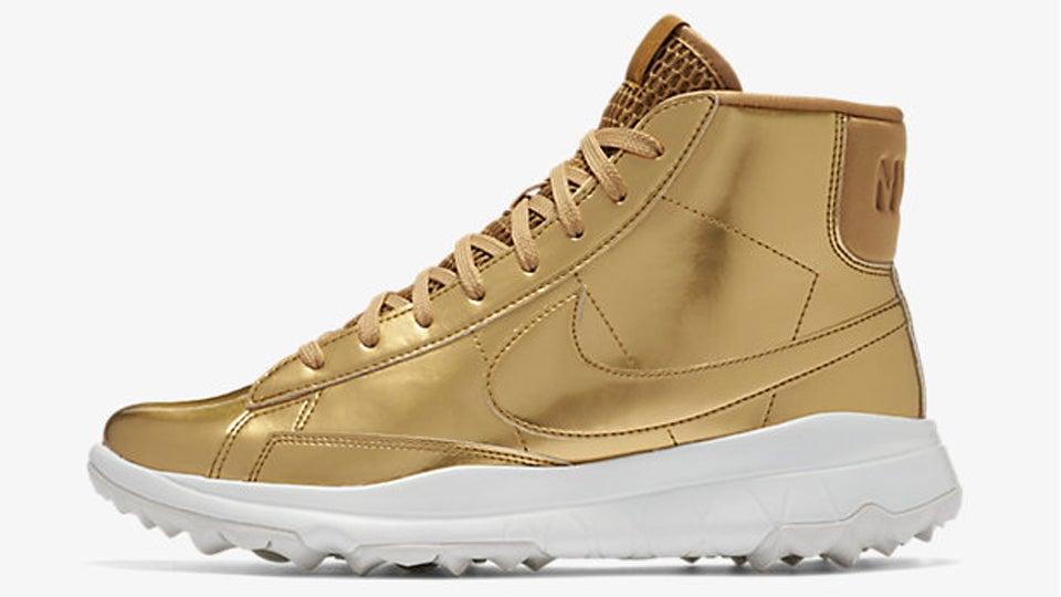 Nike Blazer Metallic Gold High Tops