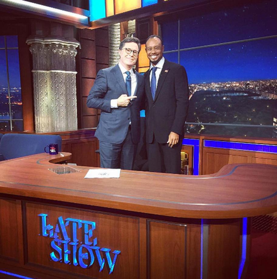 Tiger Woods & Stephen Colbert