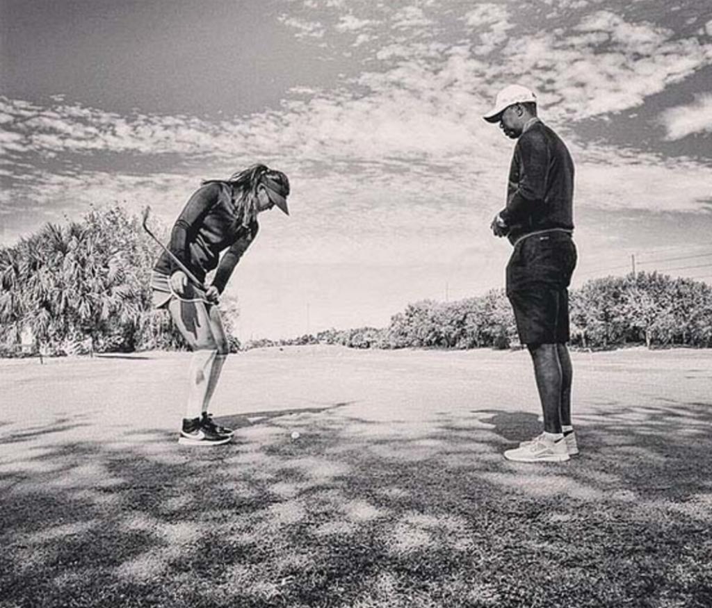 Michelle Wie & Tiger Woods
