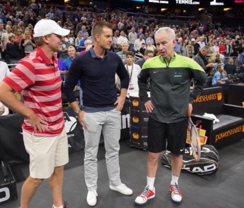 Steve Stricker, Henrik Stenson & John McEnroe