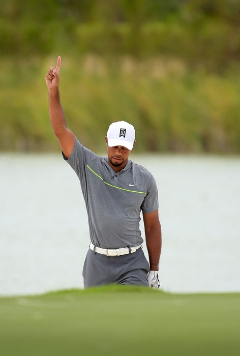 tiger woods at the 2016 hero world challenge