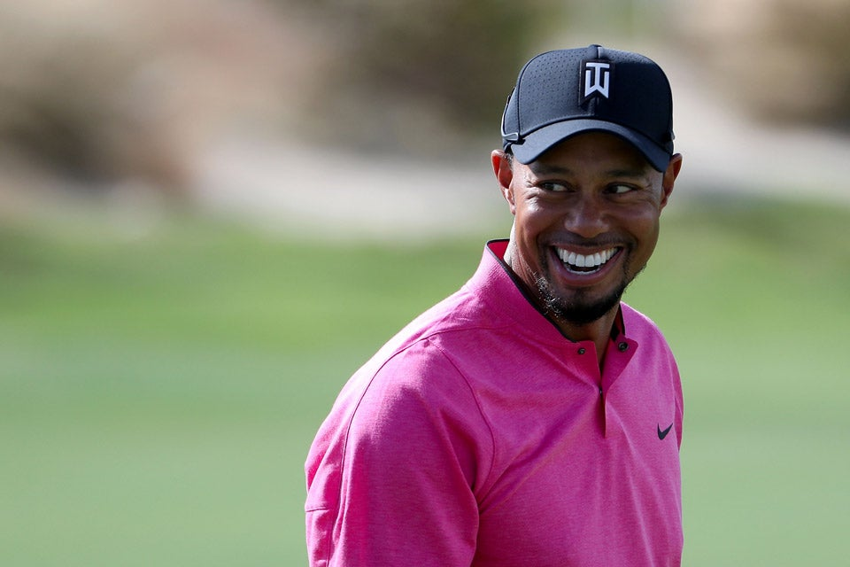 Tiger Woods during a practice round.