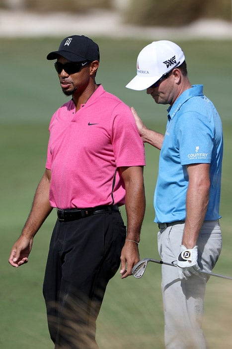 Tiger Woods and Zach Johnson.