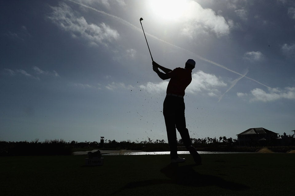 Tiger Woods plays a practice round on Wednesday.