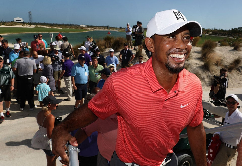 Tiger Woods on Wednesday in the Bahamas, one day prior to his return to competition at the Hero World Challenge.