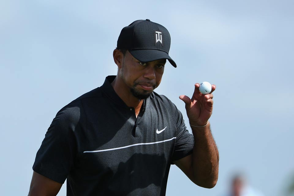 Woods got off to a solid start, going three under on the front nine.