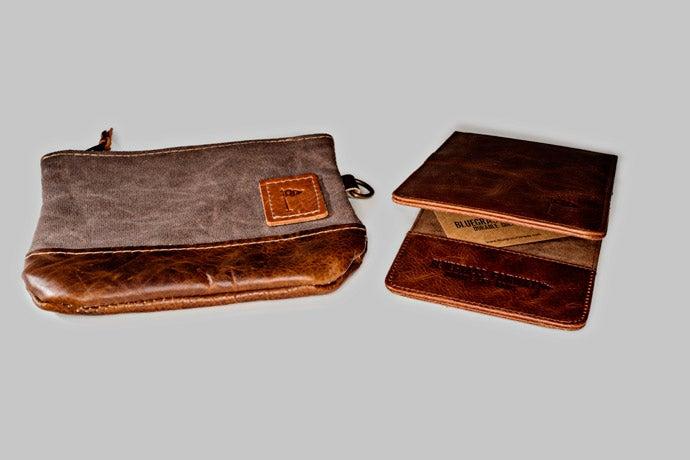 Bluegrass Fairways Leather Scorecard Holder/Valuables Pouch, $63/$39