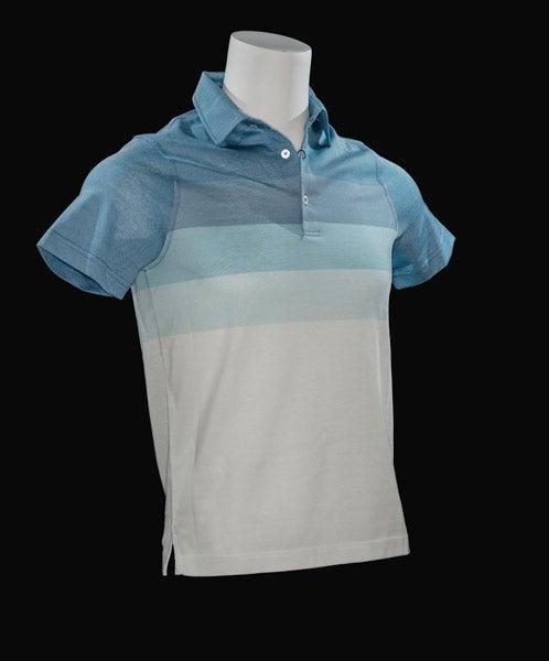 Bradley Allan Oxford Pique Gradient Polo, $89