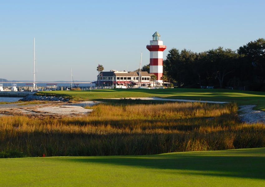 Harbour Town Golf Links, Hilton Head Island, S.C.; 18th hole, par 4, 472 yards
