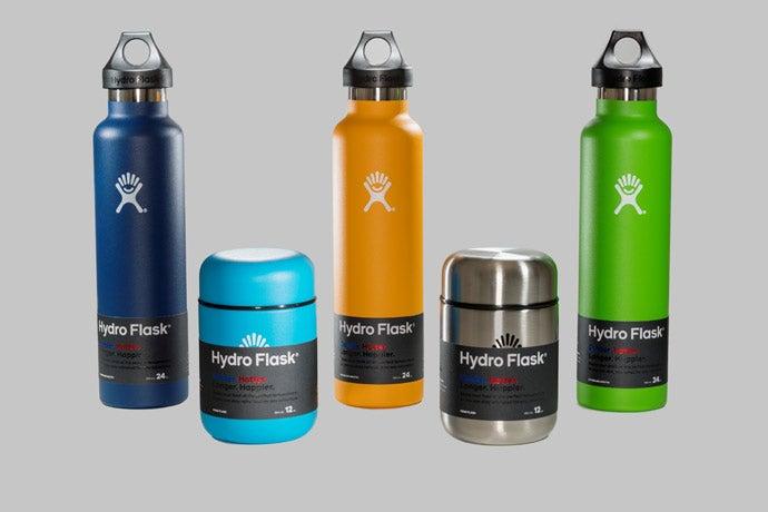 Hydroflask 24 oz Standard Mouth bottle, 12 oz Food Flask, $29.95