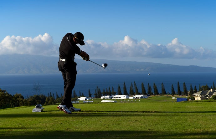 Kapalua (Plantation), Kapalua, Maui, Hawaii; 18th hole, par 5, 663 yards
