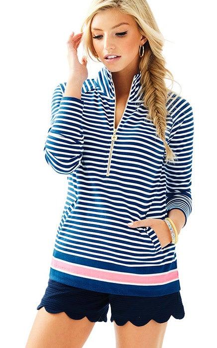 Lilly Pulitzer UPF 50+ Skipper Striped Popover, $98