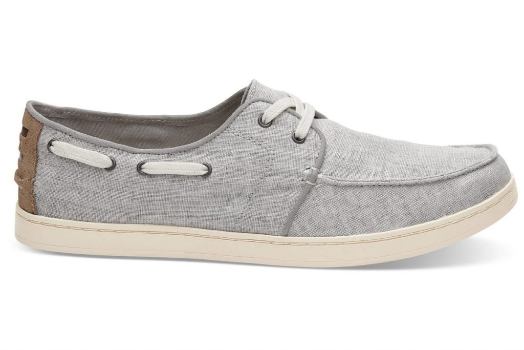 Toms Drizzle Grey Coated Linen Men's Culver Lace-Ups, $64