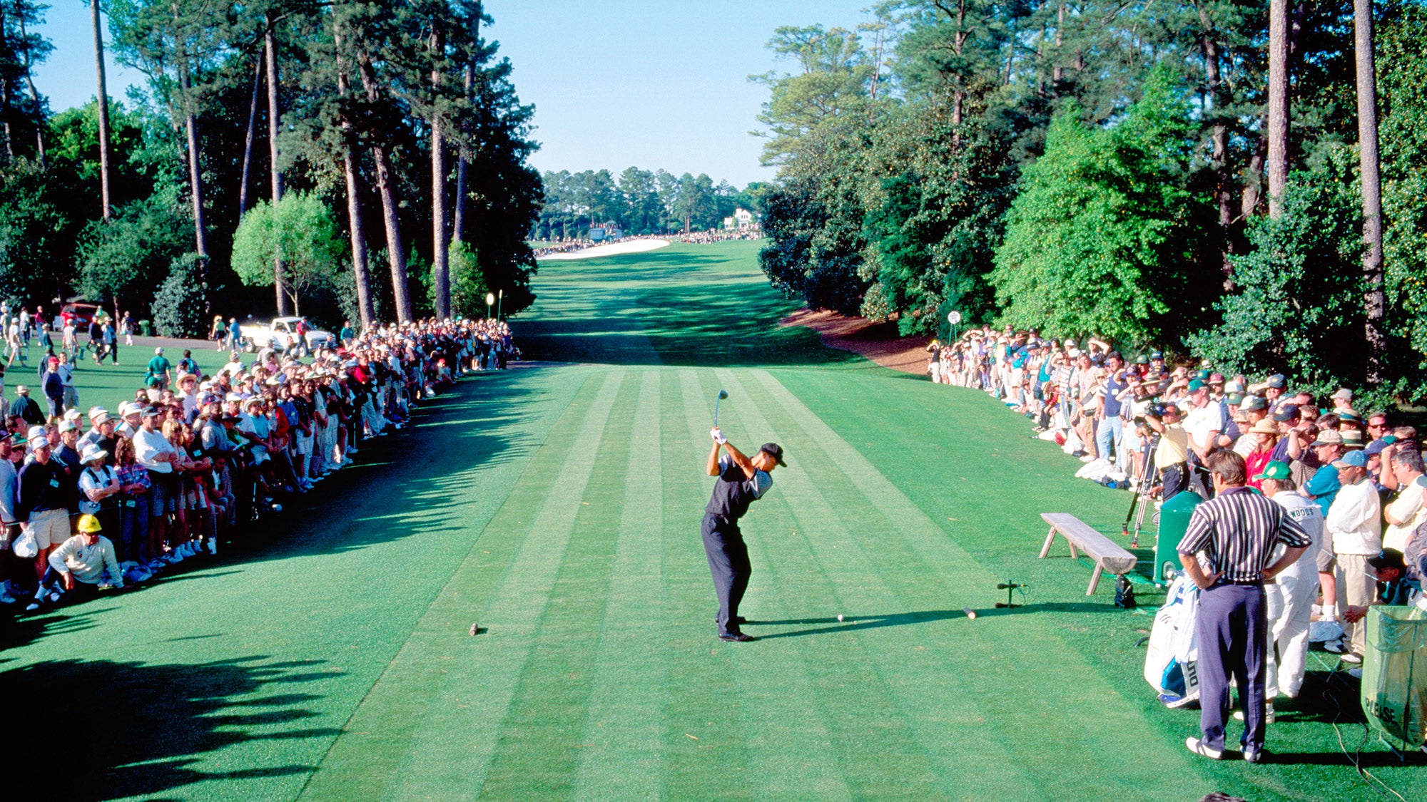 tiger woods u0026 39 s first masters win at augusta in 1997