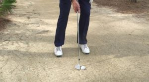 How to hit from a cart path.