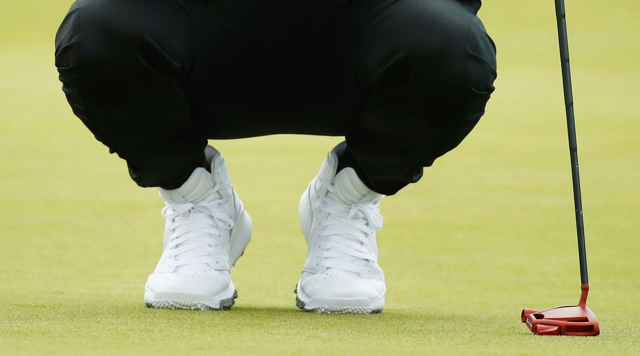 Jason Day's Nike high-top shoes