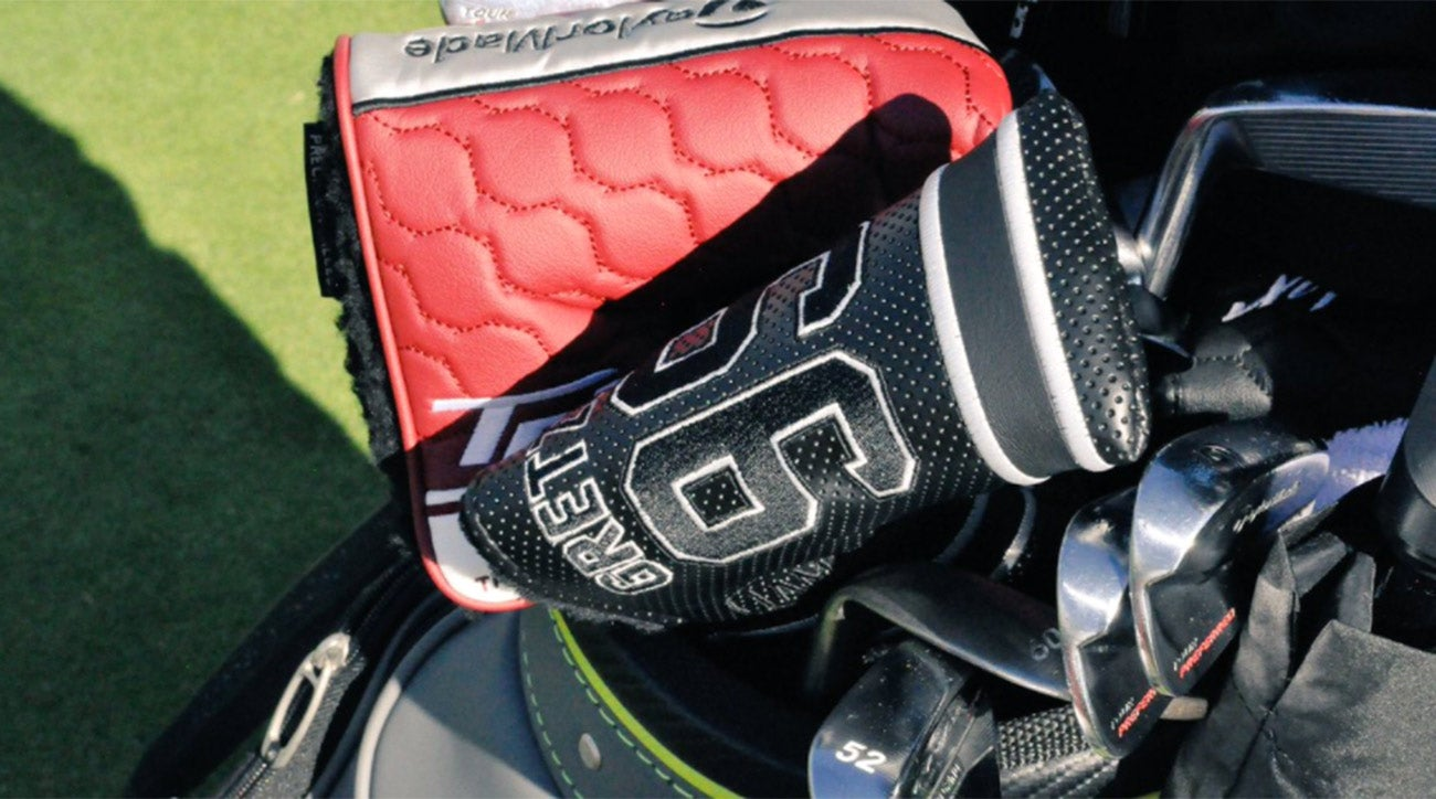 Dustin Johnson's putter headcover paid homage to Wayne Gretzky