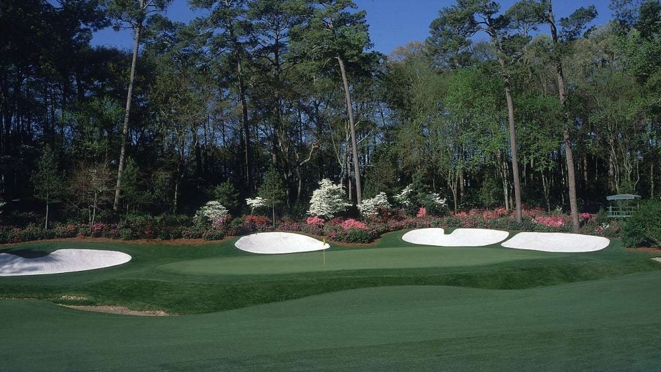 A look at the 13th green at Augusta National.