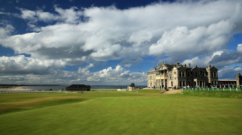 The shot of St. Andrews' clubhouse is nearly as synonymous with history as the course itself.