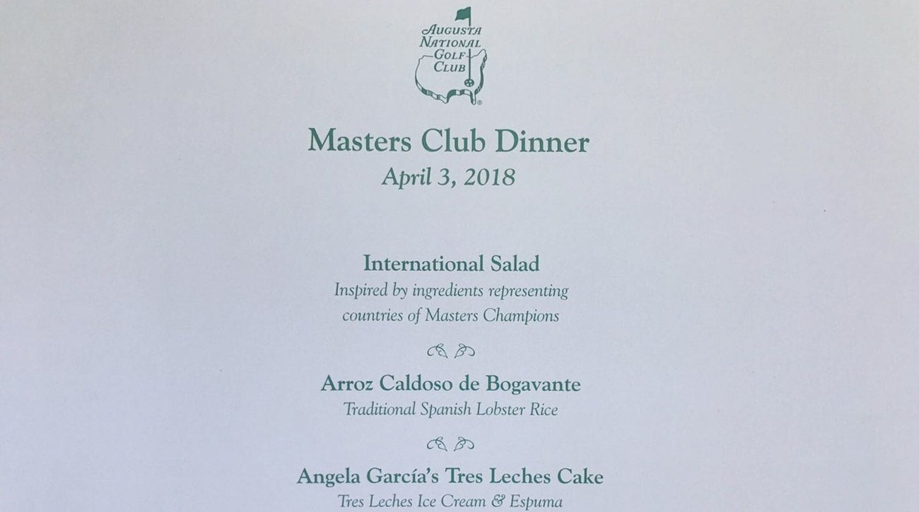 sergio garcia unveils his masters champions dinner menu