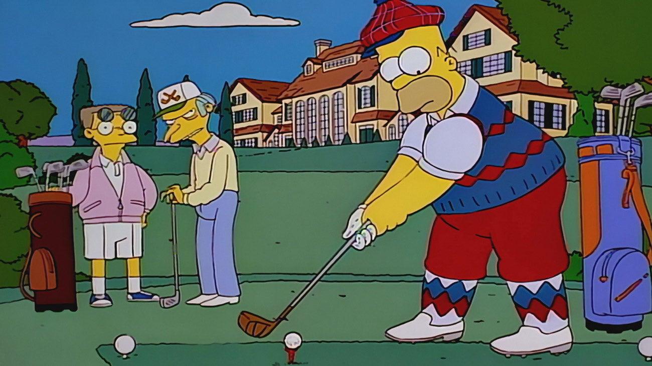 Amber Simpson Videos the simpsons best golf scenes, ranked!