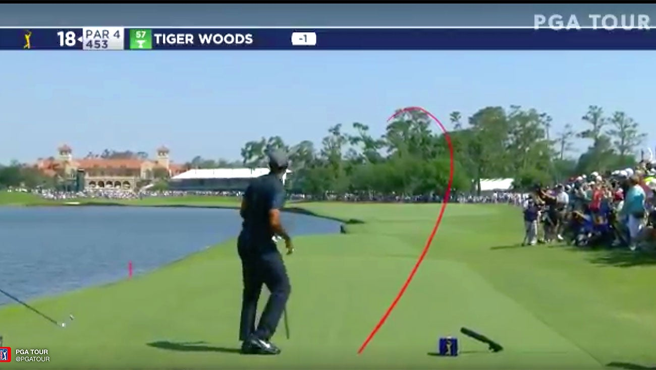 Tiger Woods Hits Gorgeous Draw At Tpc Sawgrass