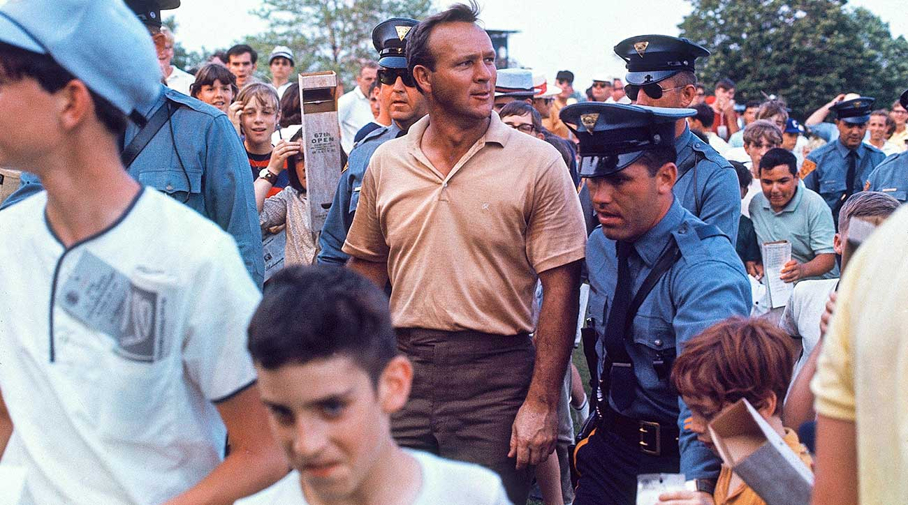 Arnold Palmer, a mediator and eventual runner-up to Nicklaus, was under intense pressure at the 1967 U.S. Open at Baltusrol.