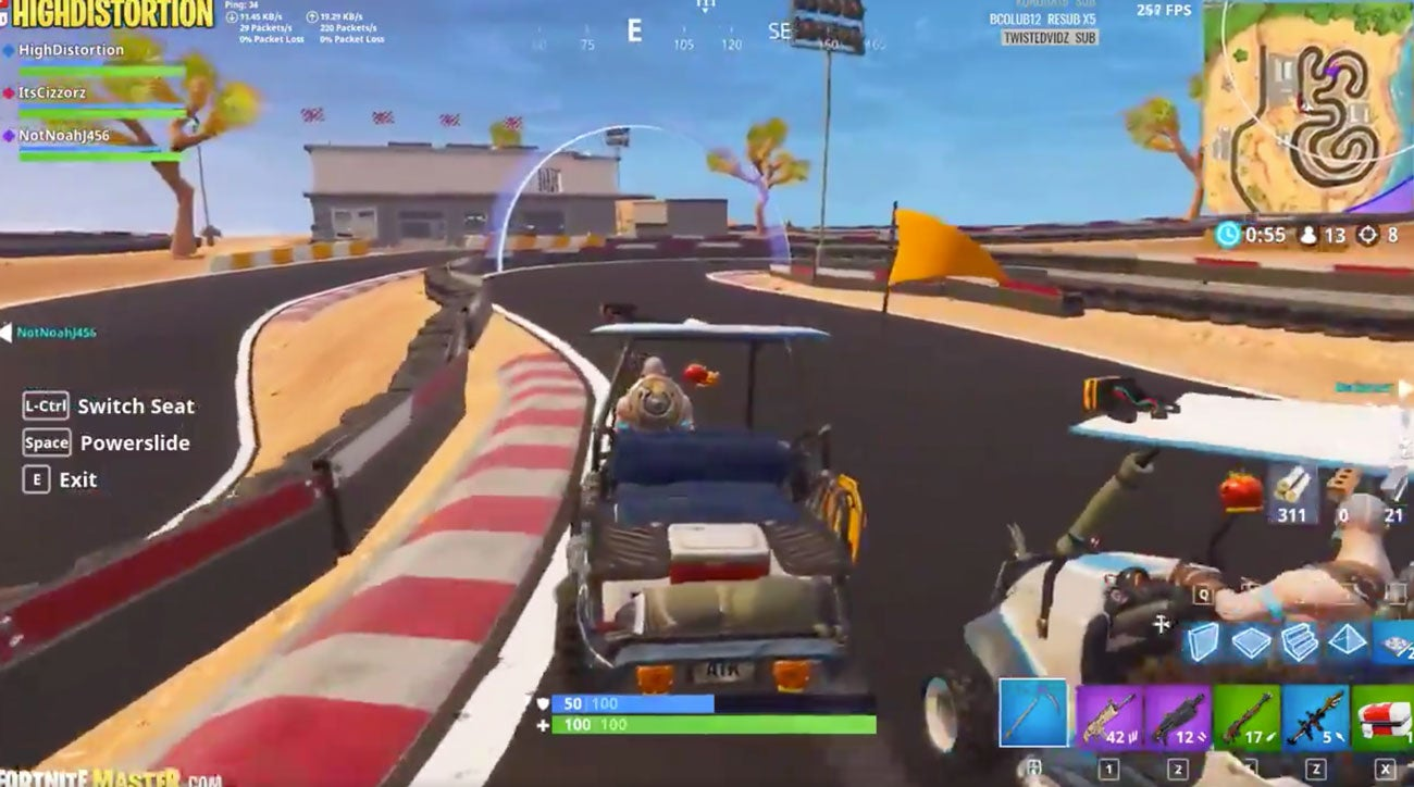 Fortnite golf cart racing