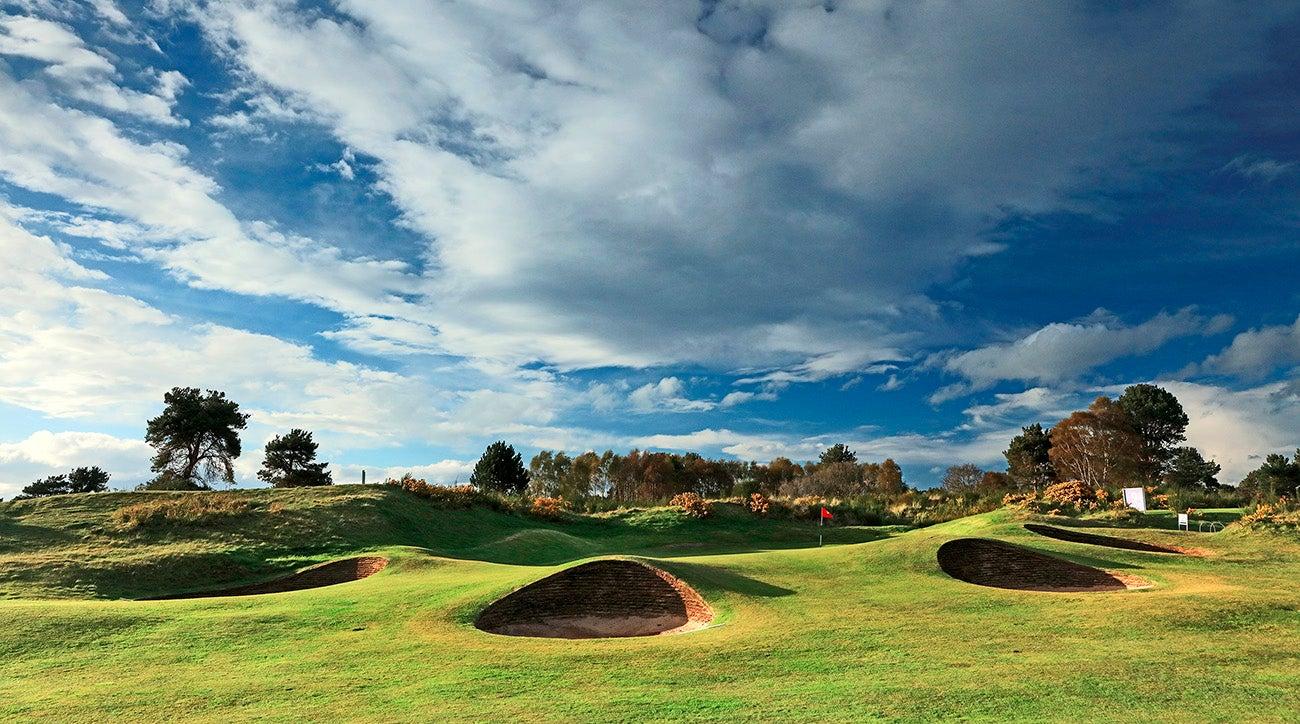 par 3, eighth hole at Nairn Dunbar Golf Club