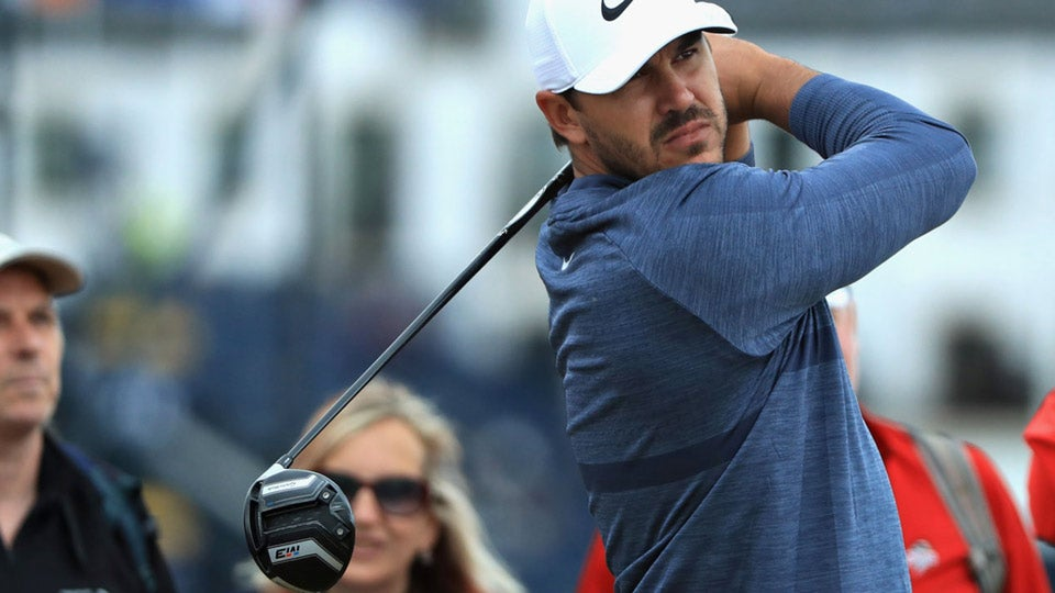 Brooks Koepka was among the 30 players who were selected for driver testing at the British Open at Carnoustie.