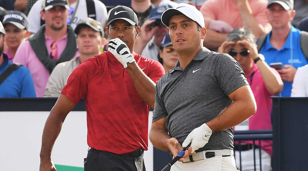 Francesco Molinari and Tiger Woods, 2018 British Open, final round