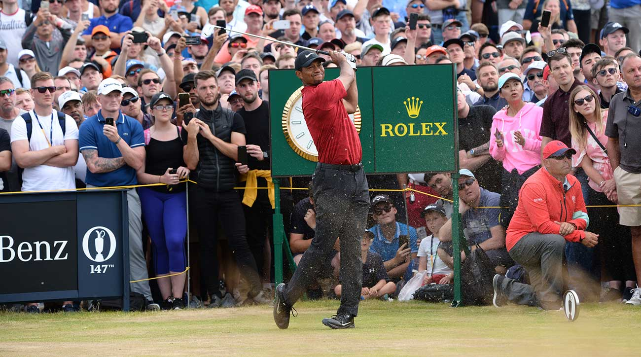 Tiger Woods charged up the leaderboard but couldn't stay there on Sunday at the British Open.