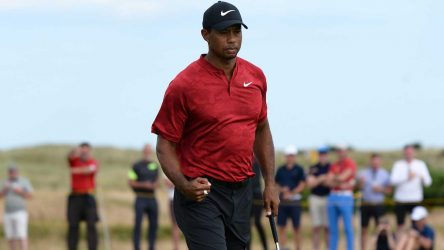 Tiger Woods's surge up the leaderboard provided a ratings boost.