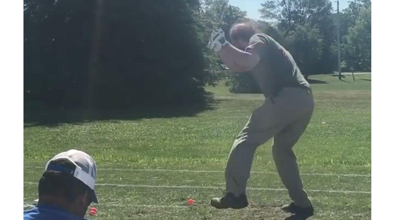 Craziest golf swing