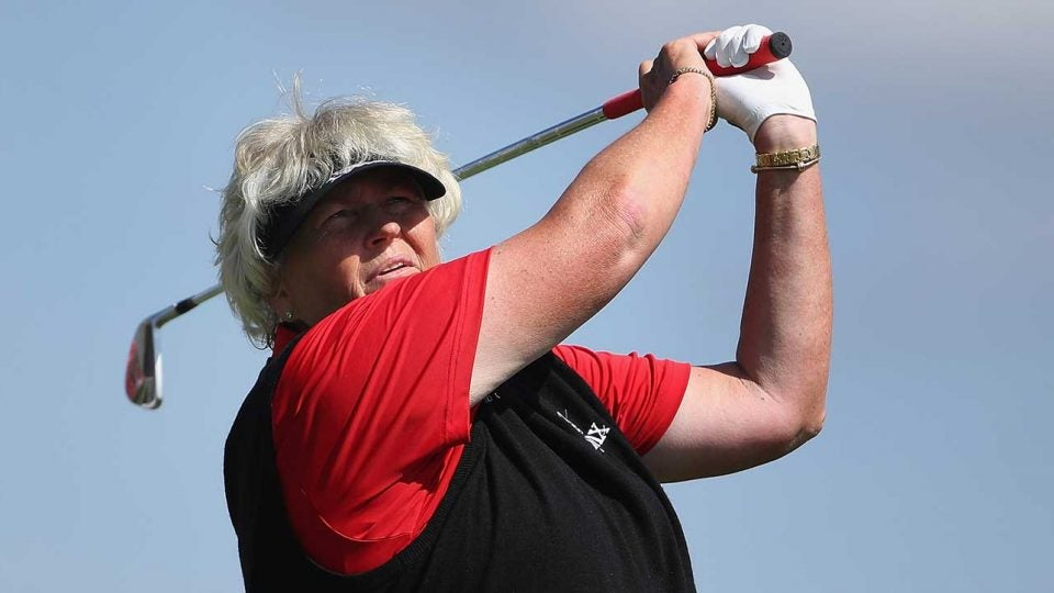 Laura Davies was in control all day on Sunday