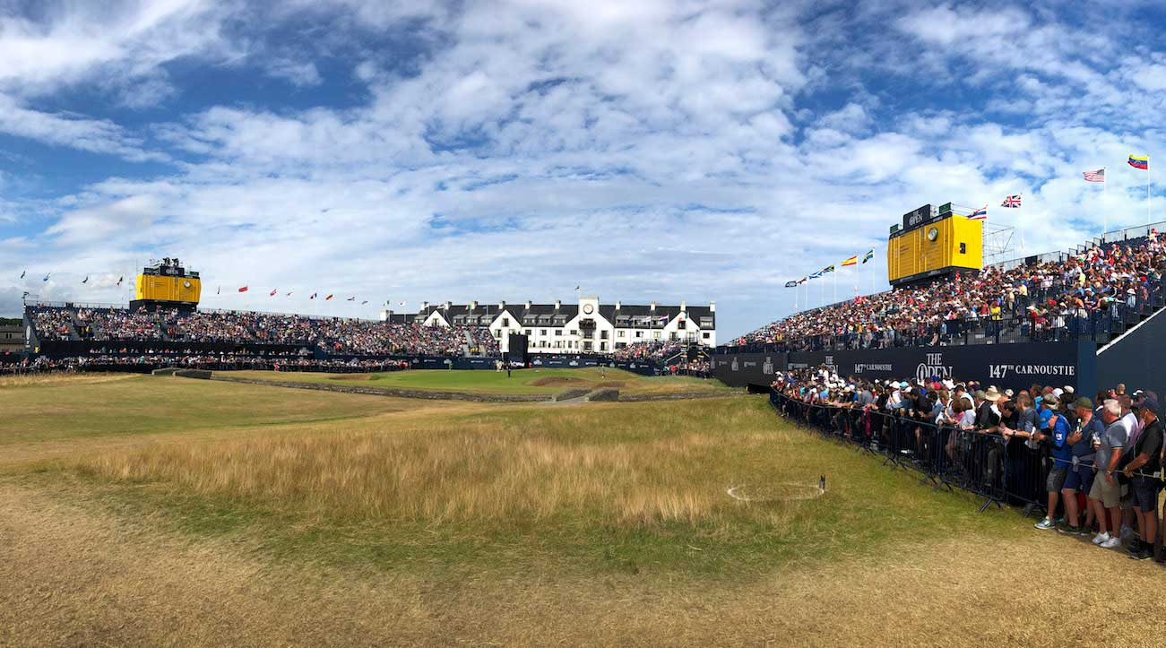The 18th at Carnoustie during the 147th British Open.