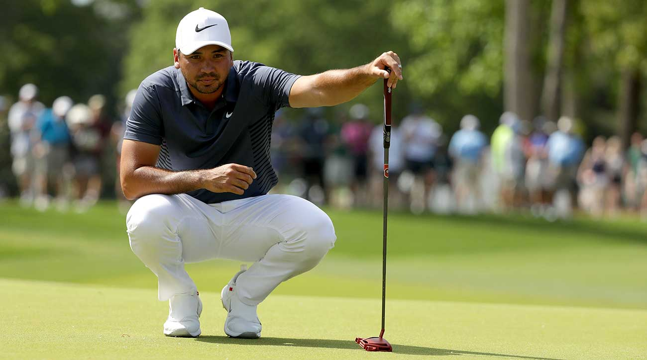 Jason Day uses the TaylorMade Spider Tour Red putter