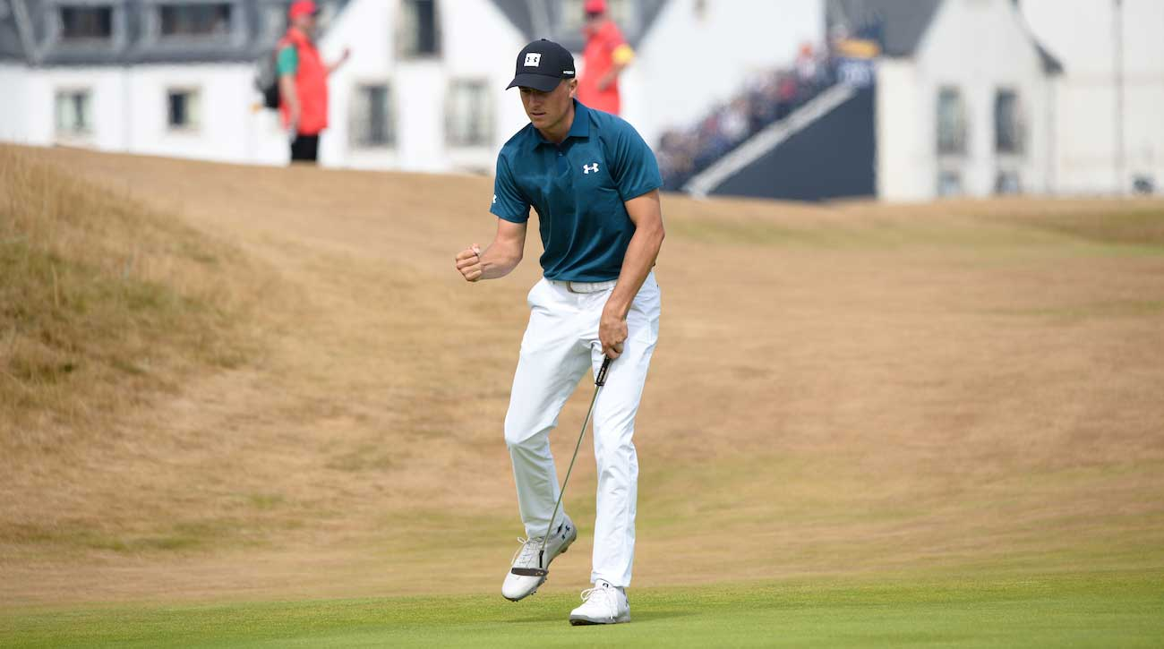 jordan spieth emerges as the man to beat at 147th british open