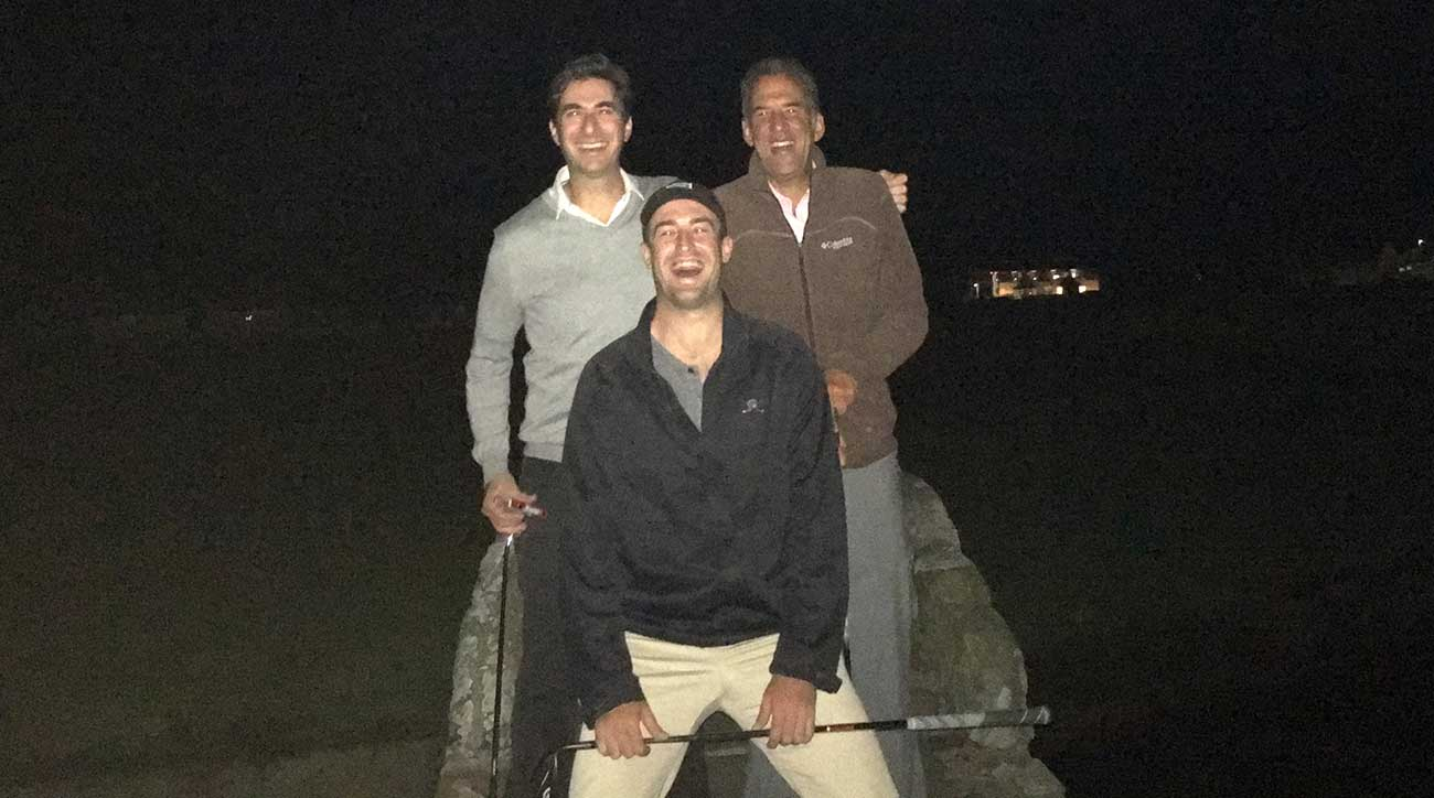 GOLF staffers found their way onto the Old Course.