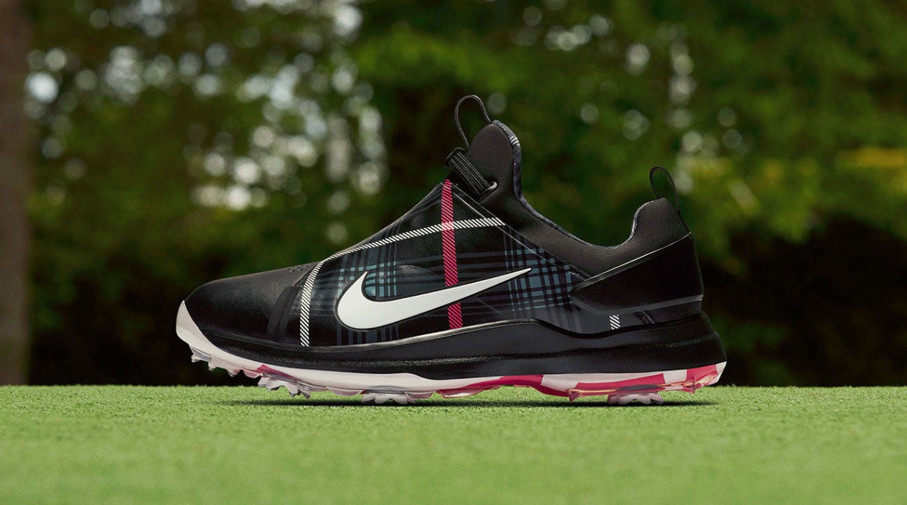 66070c9a7af502 The tartan wrap on the new Nike shoes is a nod to the British Open s  Scottish roots.